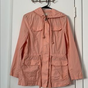 Worn once. Pink J crew cargo jacket.